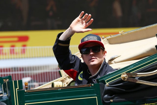 """""""I wonder why they put me in the Caterham for the parade?"""""""