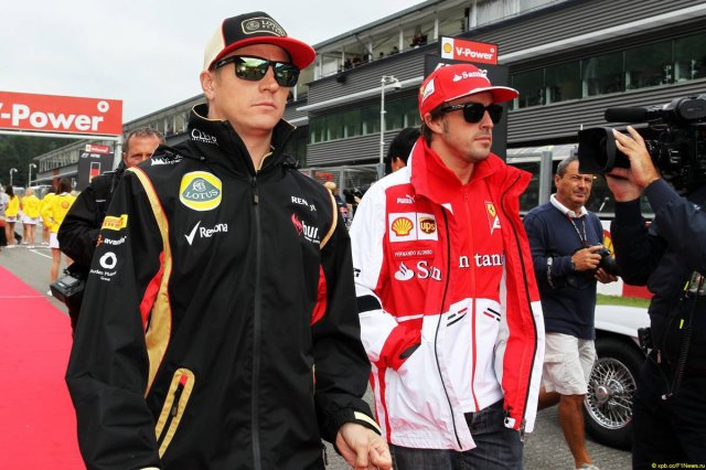 "Alonso: ""My pokerface is better."" Kimi: ""Bitch, please."""