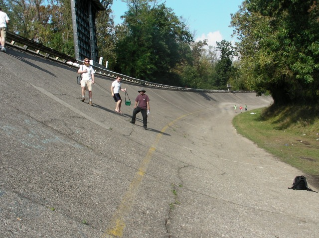 A photo of the old Monza track taken by yours truly.